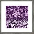 Lilac Fractal World Framed Print