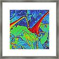 Lilies Turned Red Framed Print