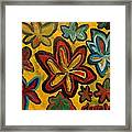 Lillies In Space Framed Print