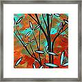 Lilly Pulitzer Inspired Abstract Art Colorful Original Painting Spring Blossoms By Madart Framed Print