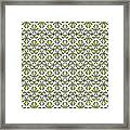 Lime Green And White Vines Framed Print