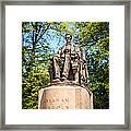 Lincoln Head Of State Statue In Chicago Framed Print