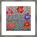 Liquid Flowers Framed Print