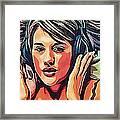 Listen To Music Framed Print