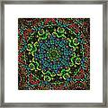 Little Green Men Kaleidoscope Framed Print
