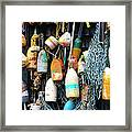 Lobster Buoys Fishermans Shed Framed Print