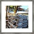 Lobster Traps Caye Caulker Belize Framed Print
