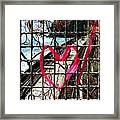 Lock And Love.cinque Terre.italy Framed Print