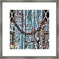 Locked And Chained Framed Print