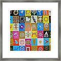 Logos and symbols Framed Print