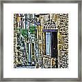 Lonely Lane In Sarlat France Framed Print