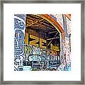 Looking Inside The Old Train Roundhouse At Bayshore Near San Francisco And The Cow Palace IIi  Framed Print