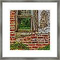 Looking Out At Darien Framed Print