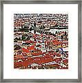 Looking Over Prague Framed Print
