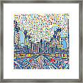 Los Angeles Skyline Abstract 3 Framed Print