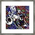 Louie Armstrong Framed Print by Jack Zulli