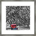 Louisiana Dream Drive Bw Framed Print