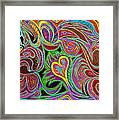 love in every shade of U v7 - love in every shade of blue Framed Print by Kenneth James