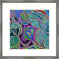 love in every shade of U v9     love in every shade of blue  Framed Print by Kenneth James
