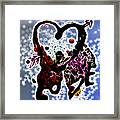 Love Is Blue Framed Print