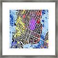 Lower Manhattan Map Framed Print