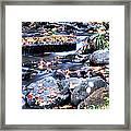 Lower Part Of Munising Falls Framed Print