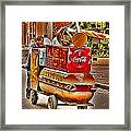 Luck Dog And Coca Cola Framed Print