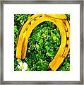 Lucky Wedding Horse Shoe Framed Print