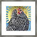 Lucy In The Sky - Celestial Chicken Framed Print