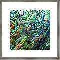 Luxury Background Of Blue Abalone Pearl Framed Print