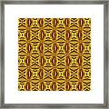 Luxury Red And Gold Christmas Kaleidoscope Framed Print