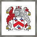 Macrory Coat Of Arms Irish Framed Print