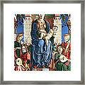 Madonna With The Child Enthroned  Framed Print by Cosme Tura