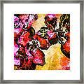 Magenta Flowers  -- Cubism Framed Print