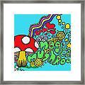 Magical Mushroom Pop Art Framed Print