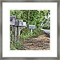 Mail Route Framed Print