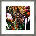 Malcolm And The King 20140205 With Text Framed Print by Wingsdomain Art and Photography