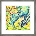 Malcolm X Drawing In Lines Framed Print by Pierre Louis