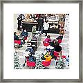 Mall Food Court Framed Print