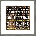 Man Cave Rules 2 Framed Print by Debbie DeWitt
