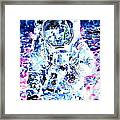 Man On The Moon - Watercolor Portrait Framed Print