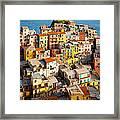 Manarola Town Framed Print