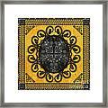 Mandala Obsidian Cross Framed Print