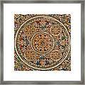 Mandala Of Heruka In Yab Yum And Buddhas Framed Print