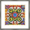 Mandala Wheel Framed Print