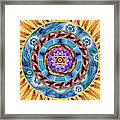 Mandala Wormhole 101 Framed Print by Derek Gedney