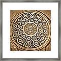 Manhole Mandala Framed Print