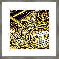 Map And Compass Framed Print