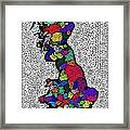 Map Of The Uk Decorative Framed Print
