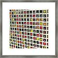 Marble Orbs Abstract Framed Print